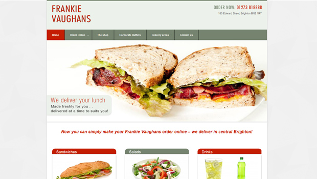 Frankie Vaughans Sandwich deliveries