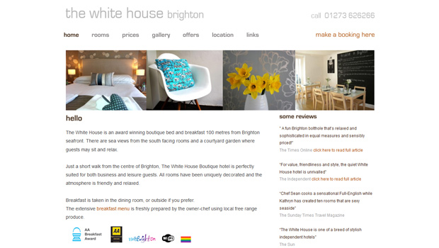The Whitehouse Boutique hotel Brighton